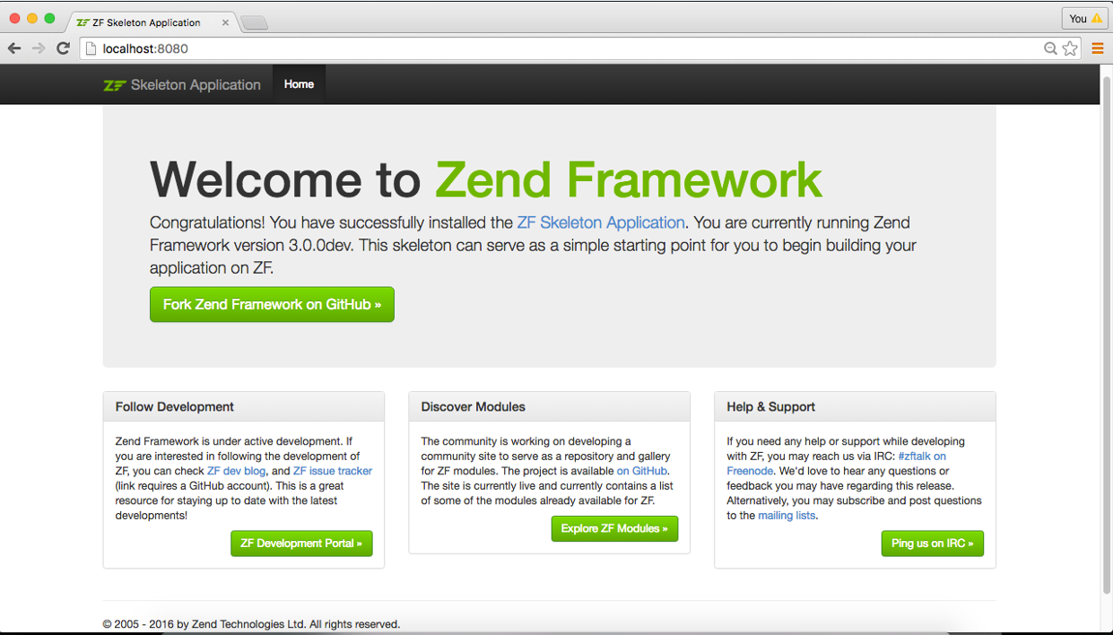 The Skeleton Application - tutorials - Zend Framework Docs