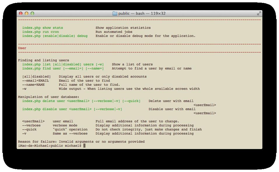 Console-Aware Modules - zend-console - Zend Framework Docs